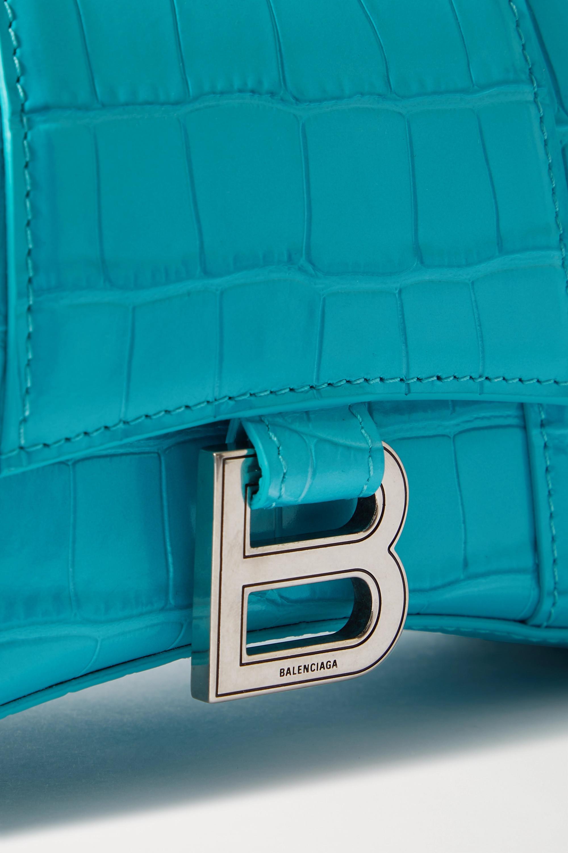 Balenciaga Hourglass XS croc-effect leather tote