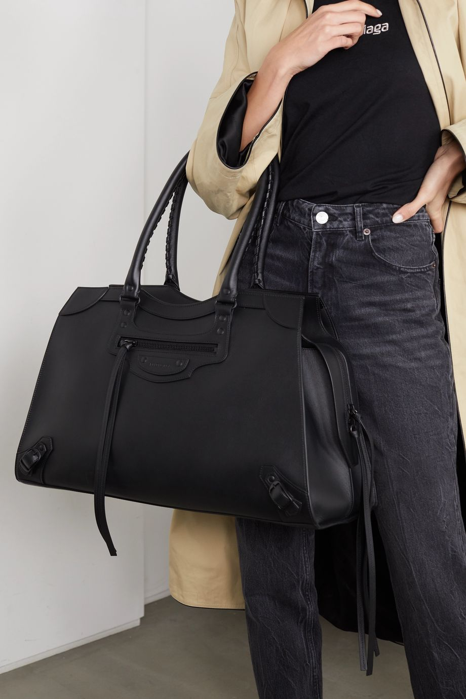 Balenciaga Classic City large leather tote