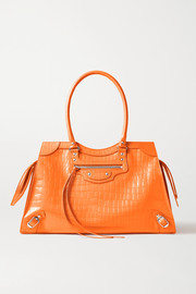 Balenciaga Neo Classic City large croc-effect leather tote