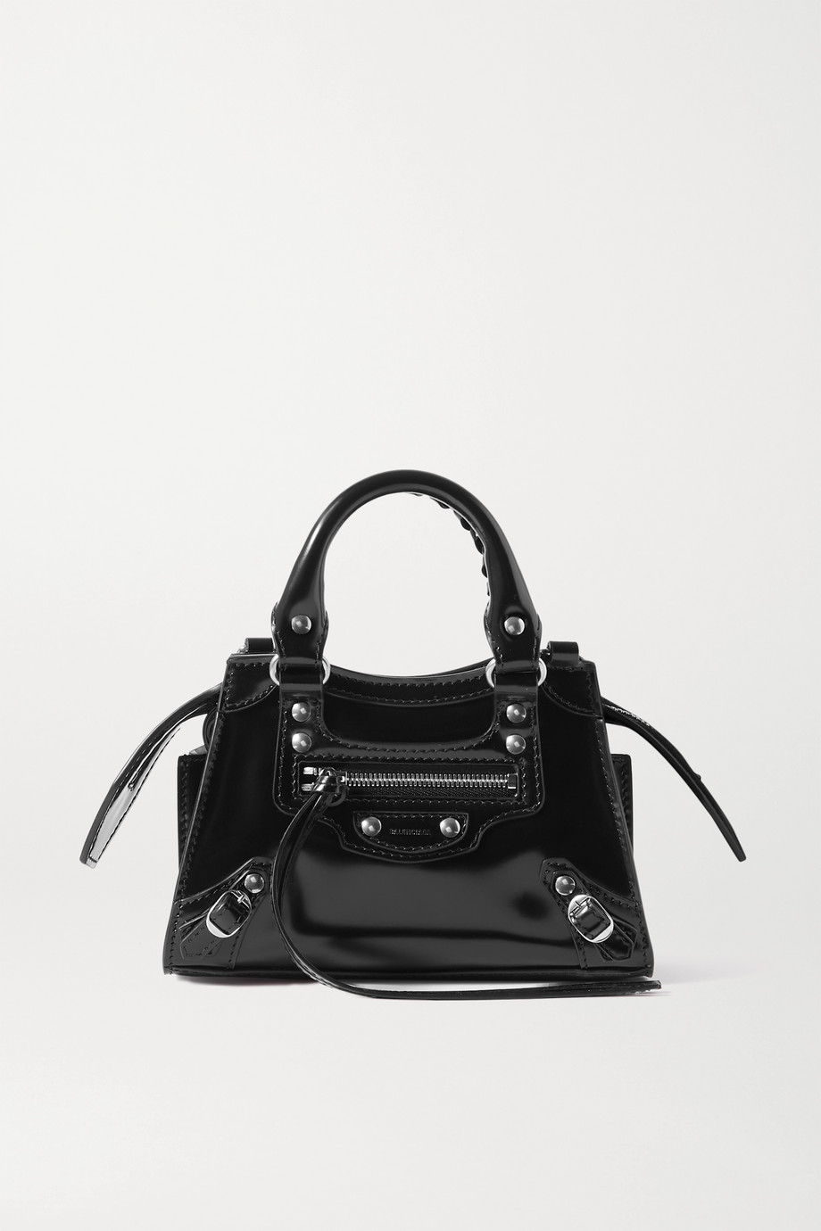 Balenciaga Neo Classic City nano glossed-leather tote