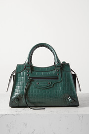 Balenciaga Classic City small croc-effect leather tote