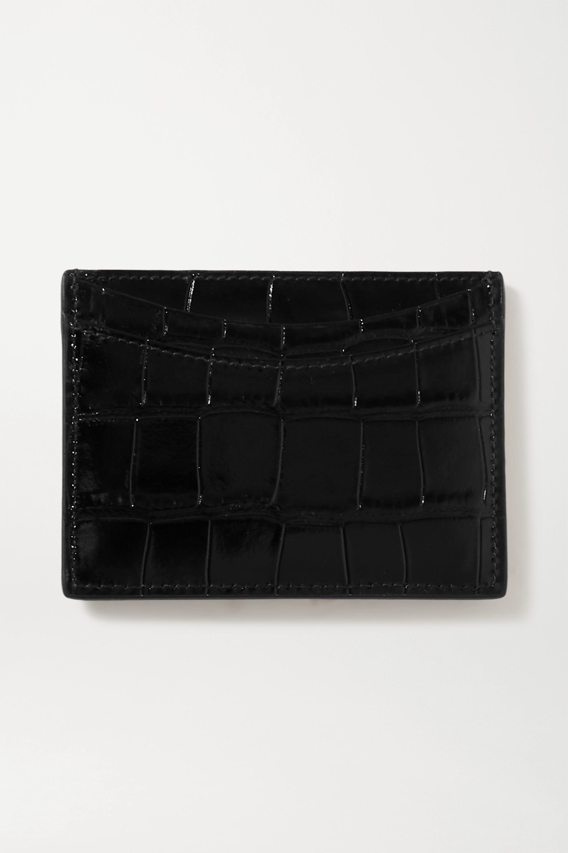 Balenciaga Hourglass Kartenetui aus Leder mit Krokodileffekt