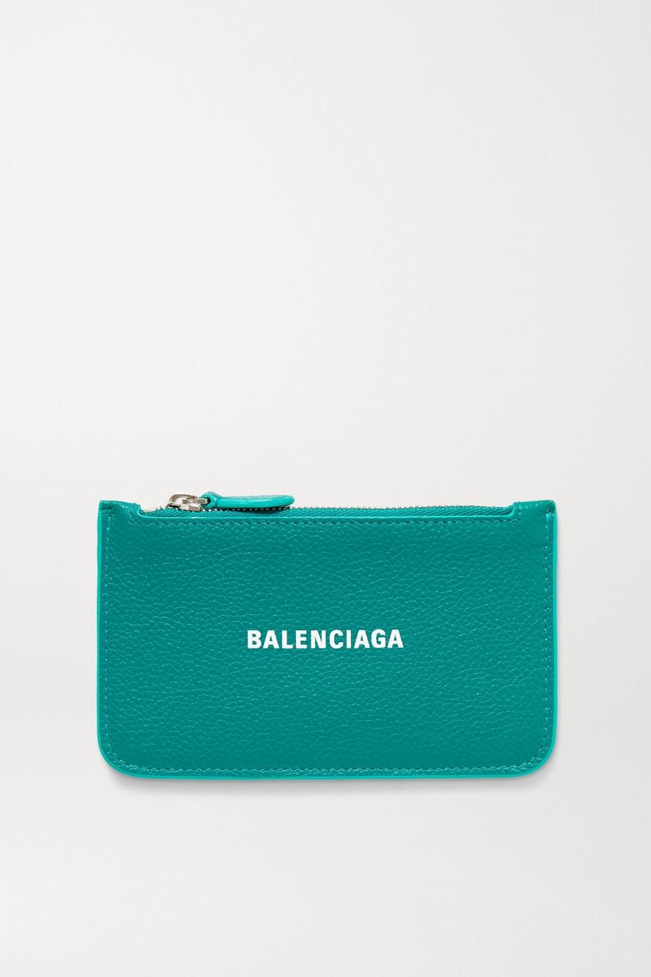 Balenciaga Cash Portemonnaie aus strukturiertem Leder mit Print