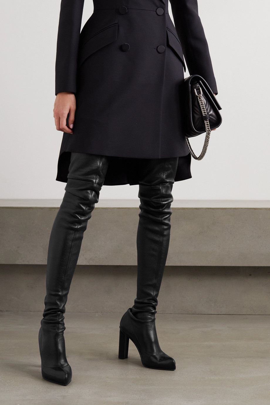 Alexander McQueen Leather over-the-knee boots