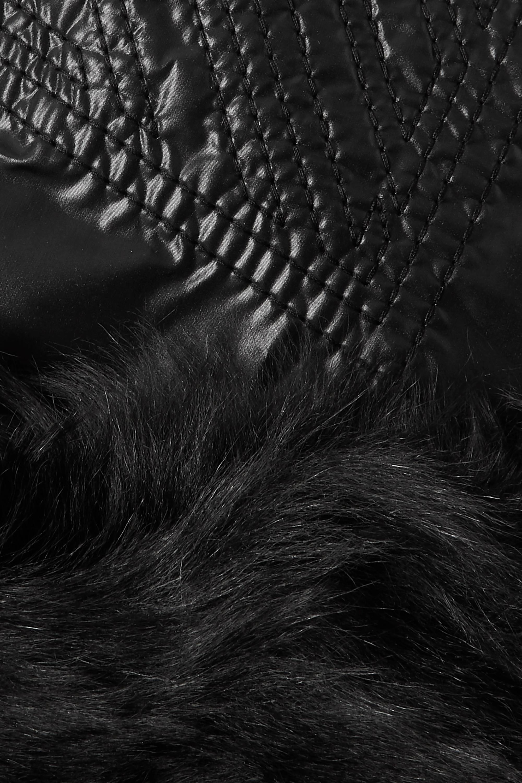 Chloé Snood en tissu technique à finitions en peau lainée