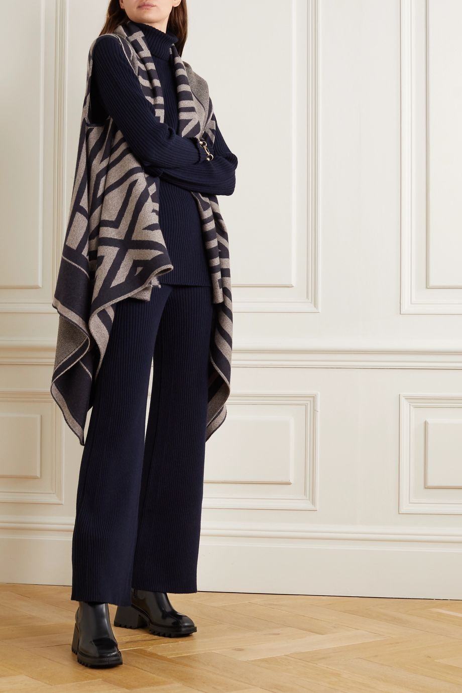 Chloé Wool-jacquard wrap