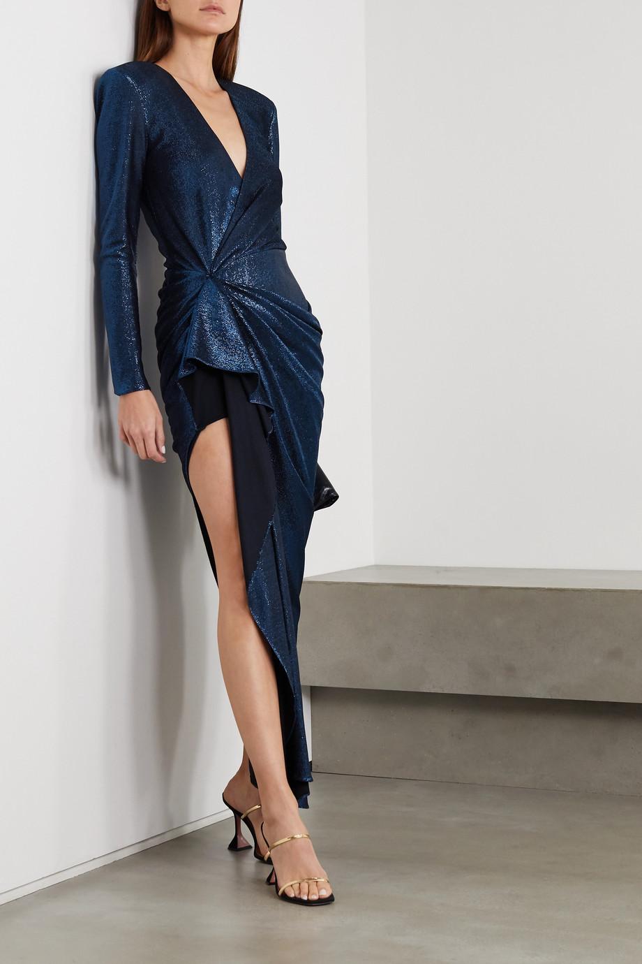 Redemption Asymmetrisches Kleid aus Lamé mit Raffungen