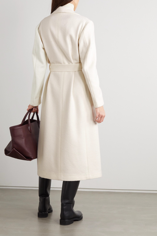 Giuliva Heritage + NET SUSTAIN The Linda belted herringbone wool-blend coat