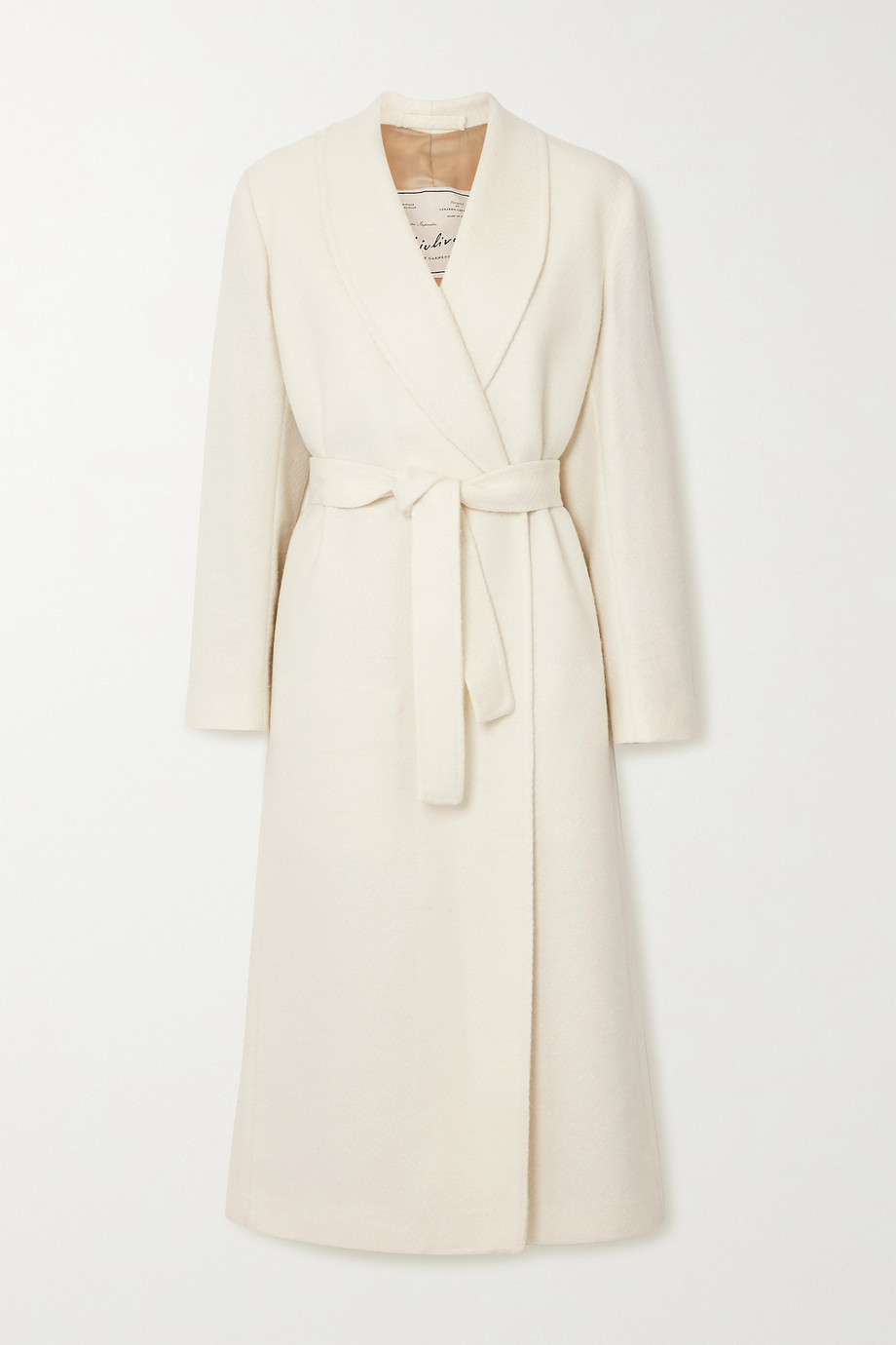 Giuliva Heritage The Linda belted herringbone wool-blend coat