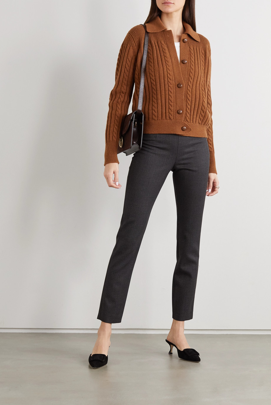 Giuliva Heritage The Teresa cable-knit wool and cashmere-blend cardigan