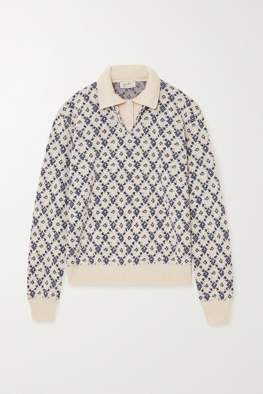 Giuliva Heritage + NET SUSTAIN Astrid Pullover aus einer Woll-Kaschmirmischung mit Intarsienmuster