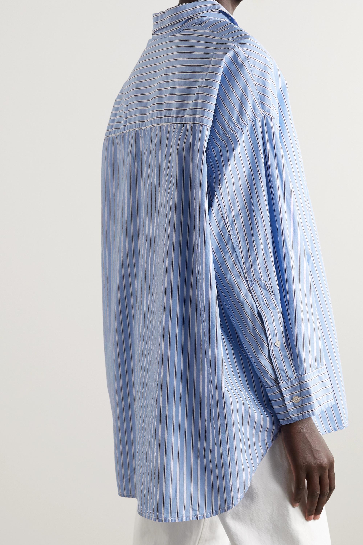 Denimist Hemd aus gestreifter Baumwollpopeline
