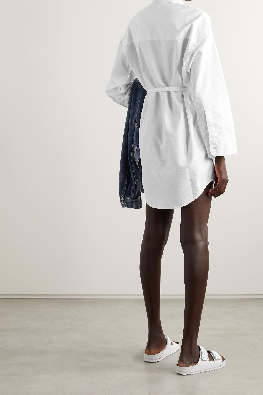 Denimist Hemdblusenkleid aus Baumwoll-Canvas mit Gürtel