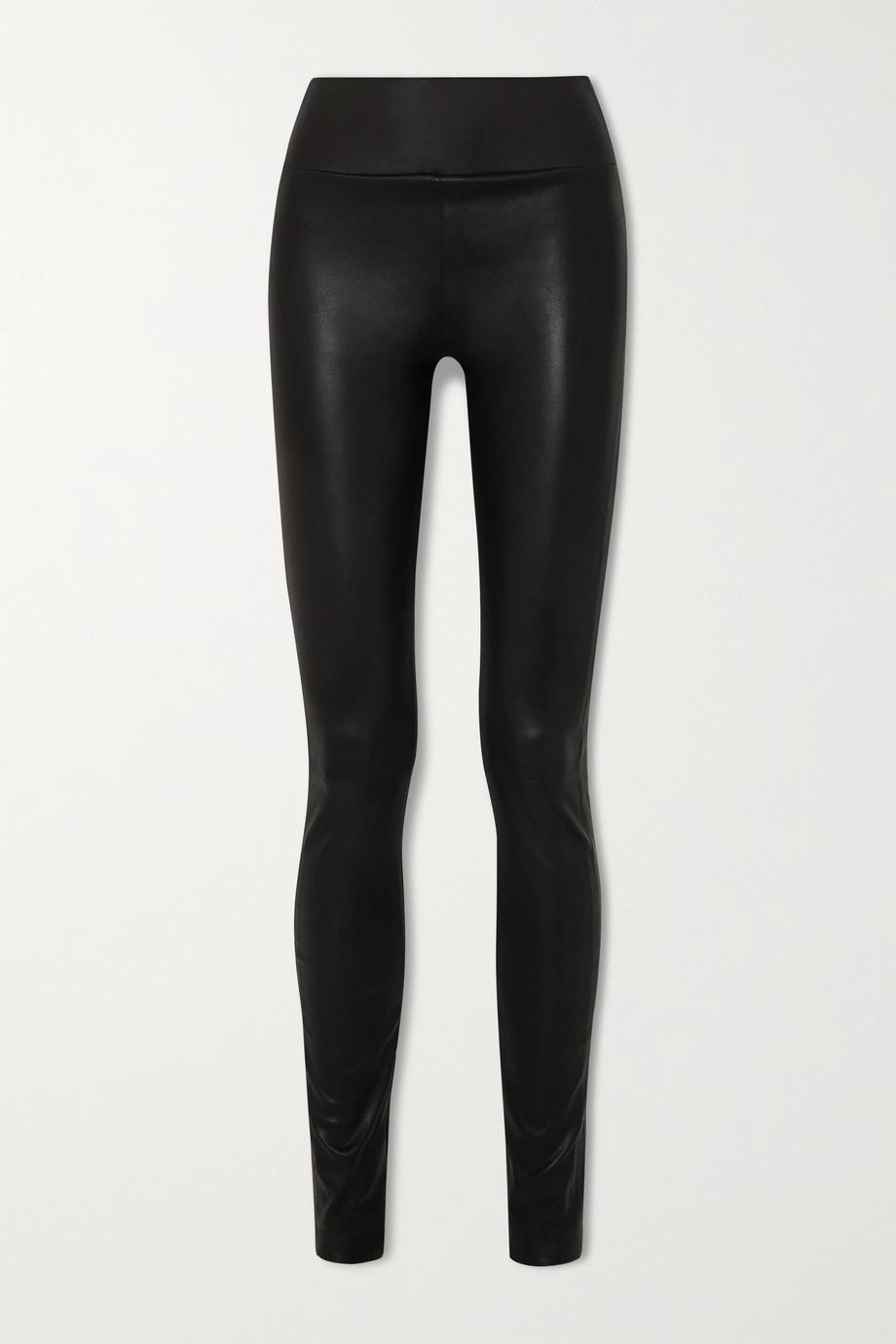 SPRWMN Leggings aus Leder mit Reißverschlüssen