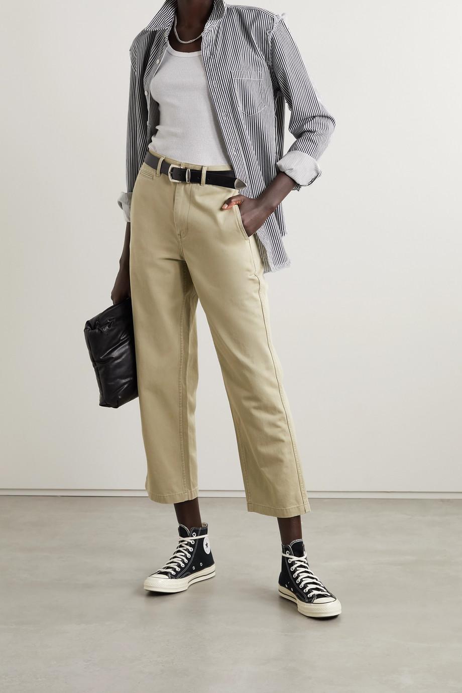 Denimist 仿旧条纹纯棉斜纹布衬衫