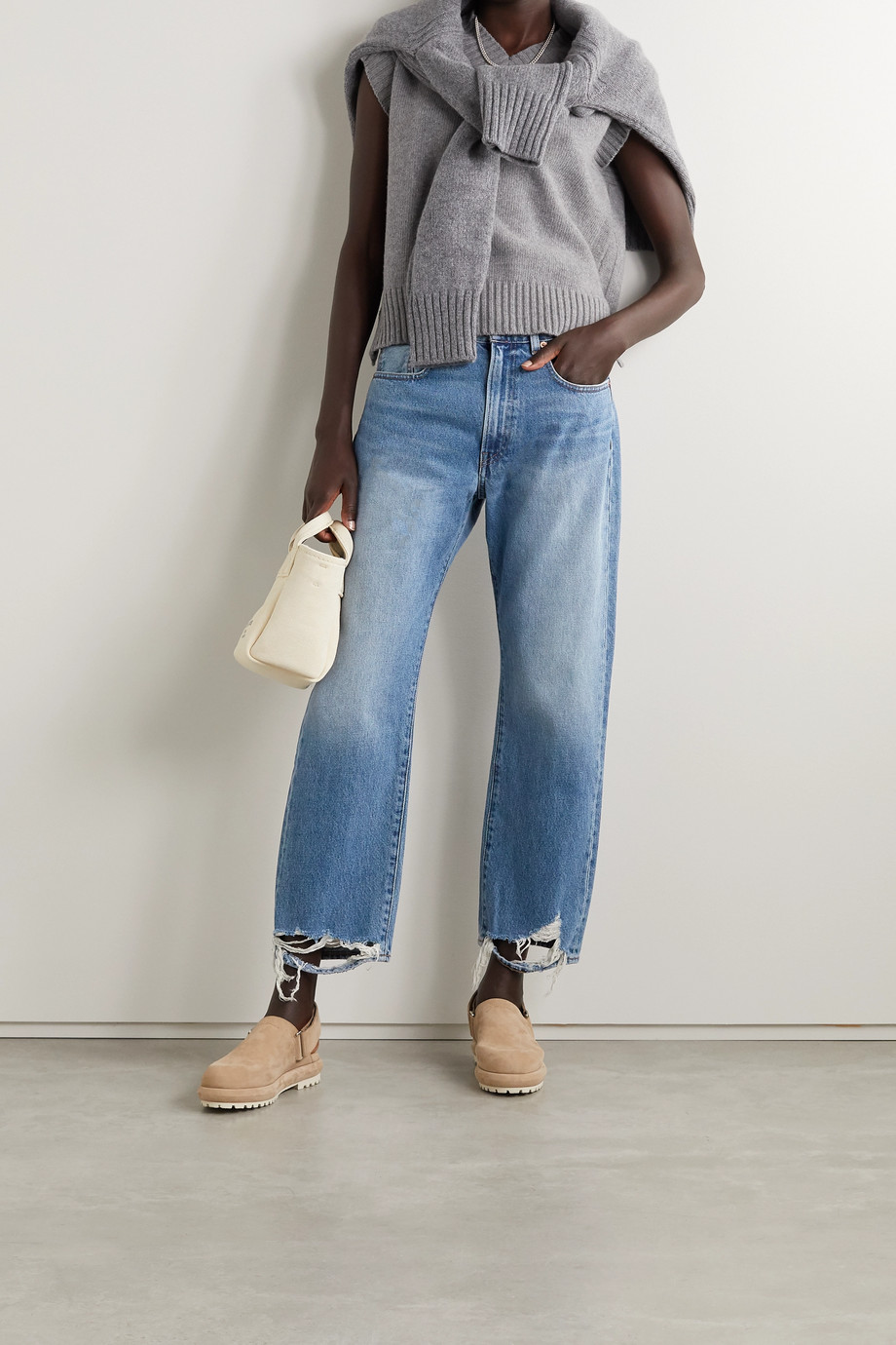 Denimist Distressed boyfriend jeans