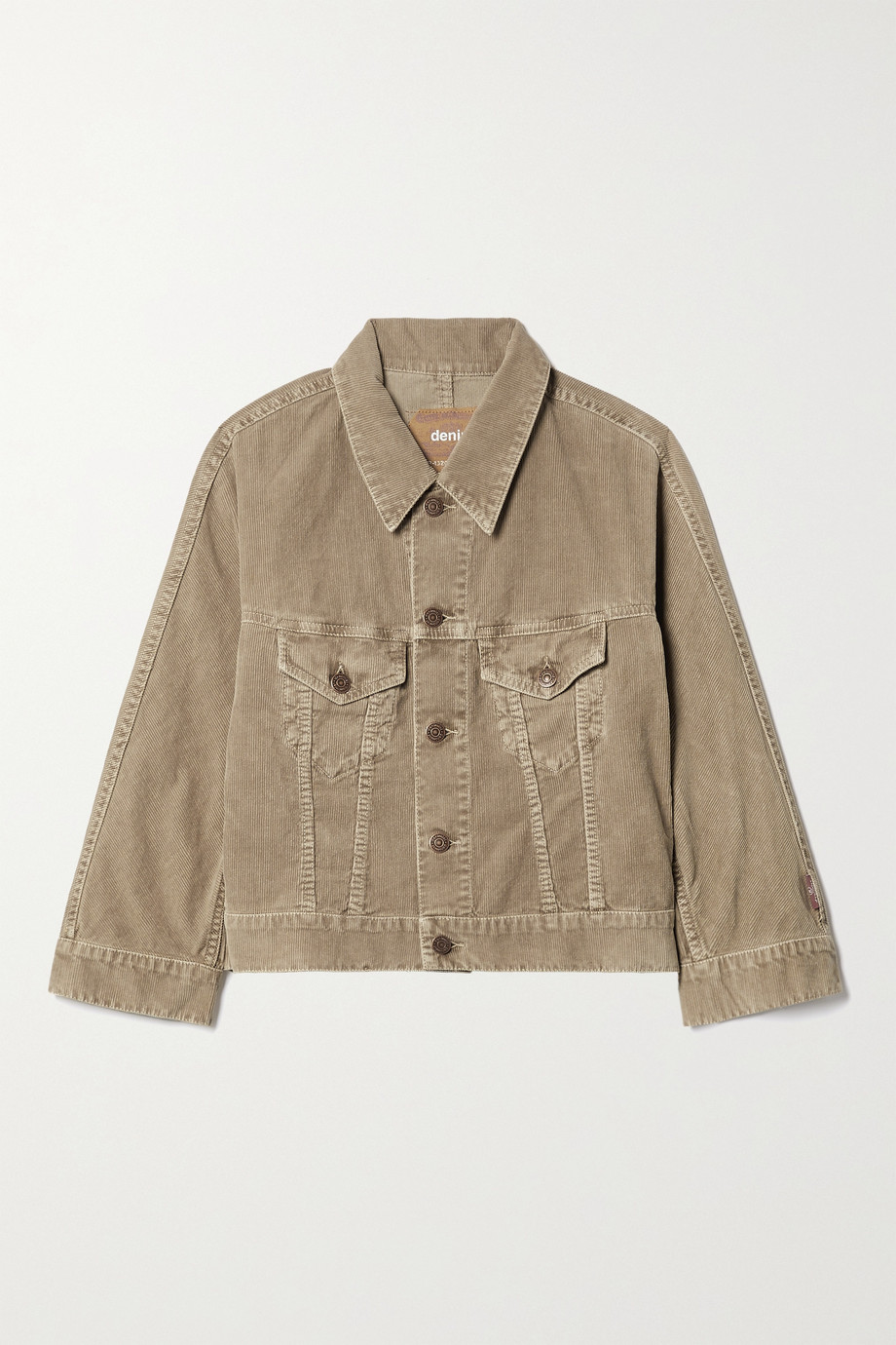 Denimist Moore cropped cotton-corduroy jacket
