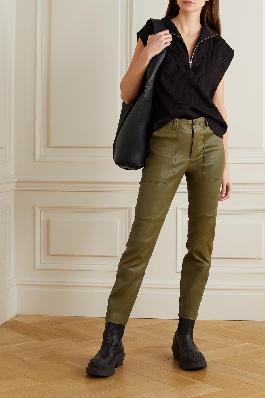 SPRWMN Pantalon droit en cuir