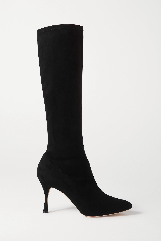 Manolo Blahnik Pamfilo stretch-suede knee boots