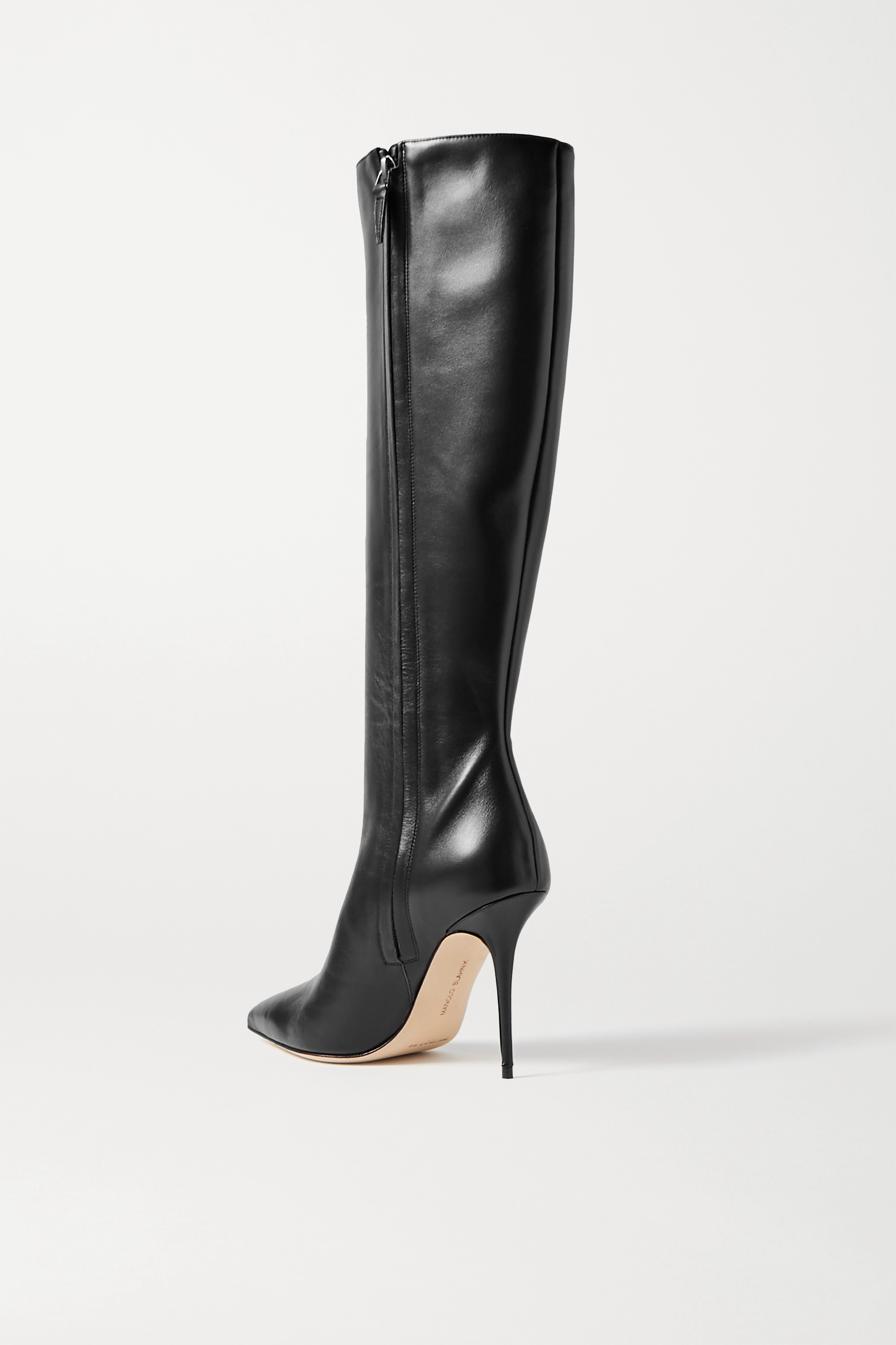 Manolo Blahnik Desida leather knee boots