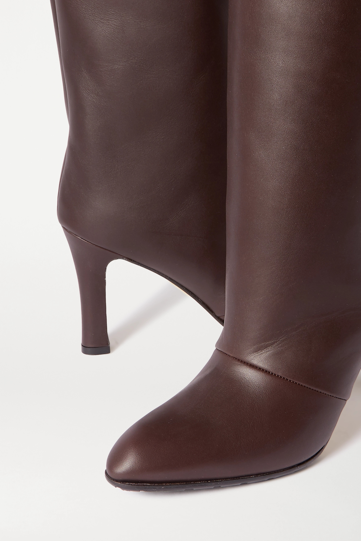 Manolo Blahnik Khomobi Gum leather knee boots