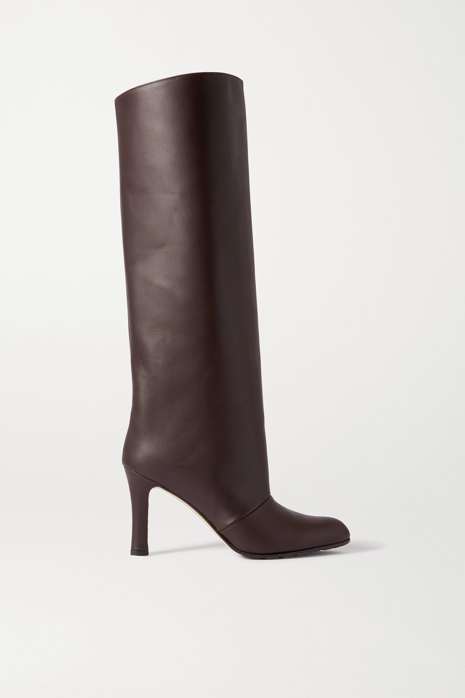 Manolo Blahnik Khomobi Gum leather knee boots