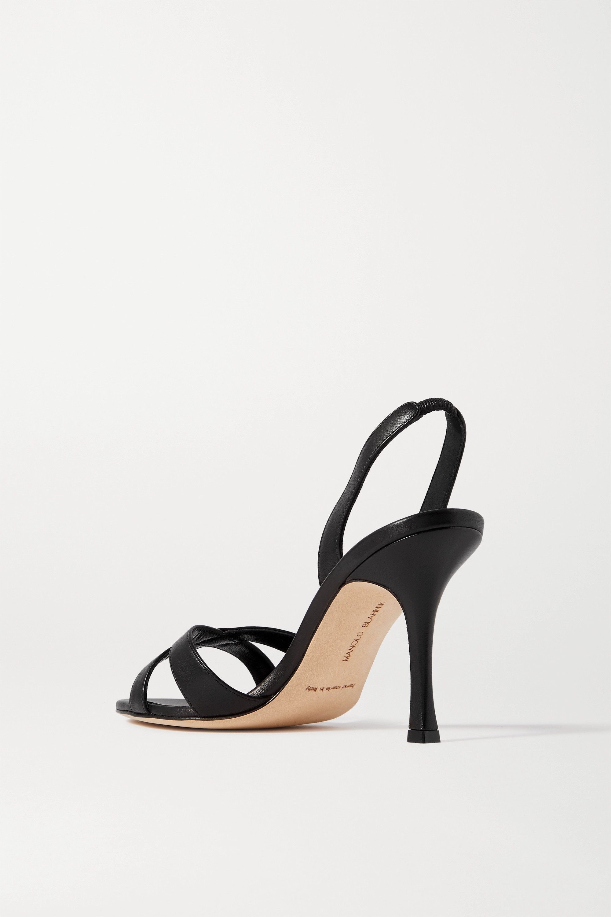 Manolo Blahnik Callasli leather slingback sandals