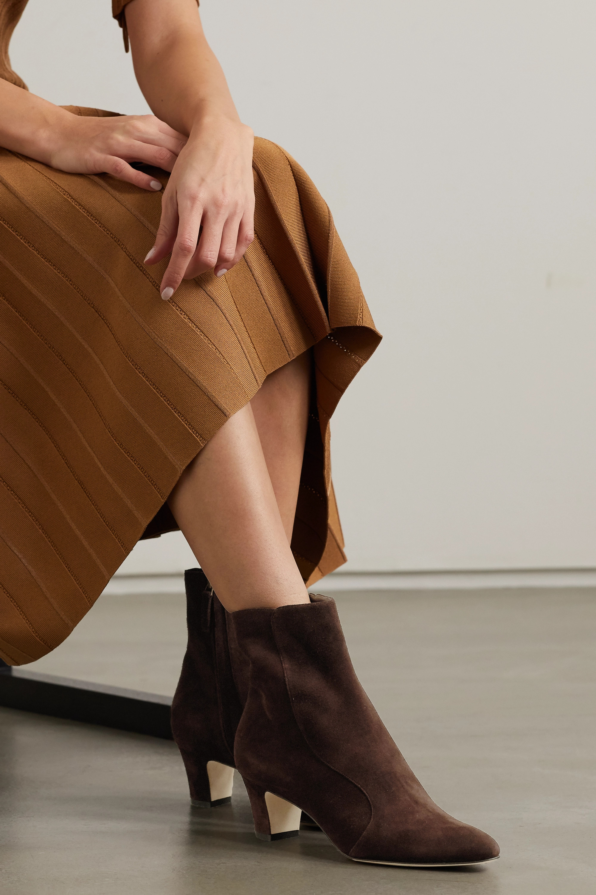 Brown Myconia suede ankle boots