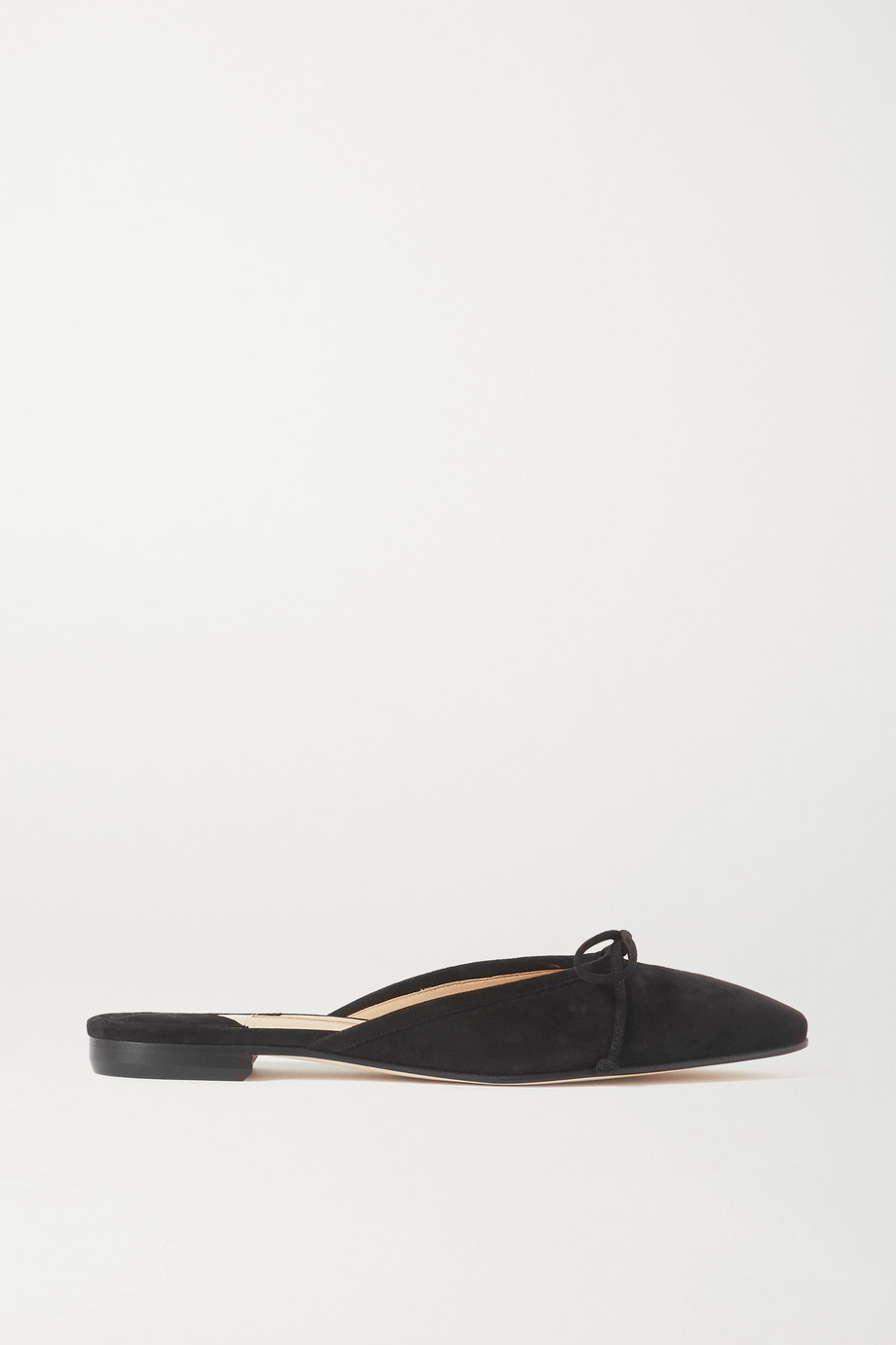 Manolo Blahnik Ballerimu 蝴蝶结细节绒面革穆勒鞋