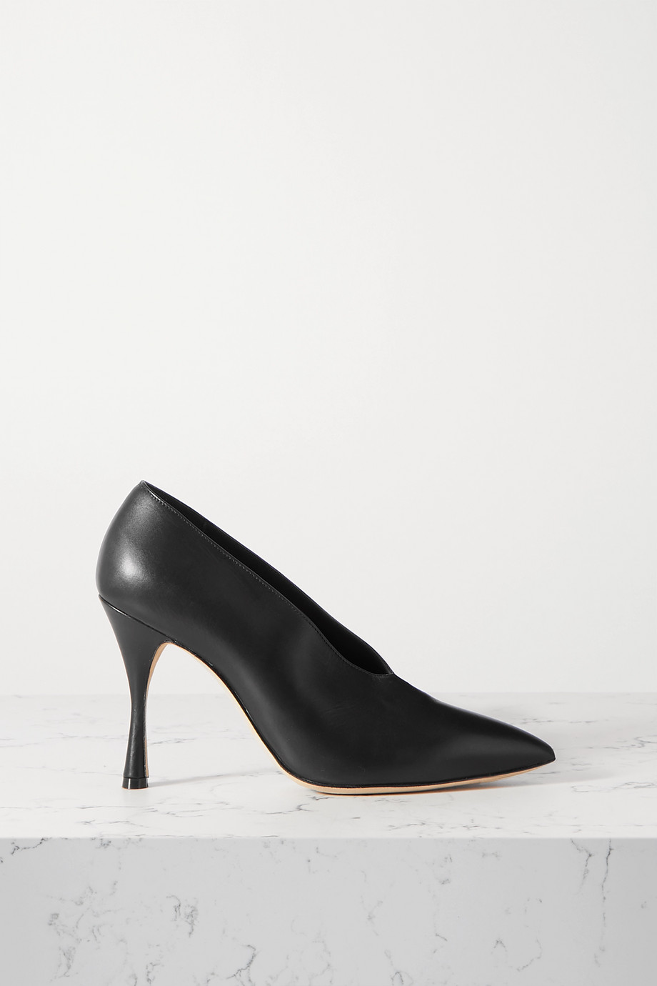 Manolo Blahnik Erminda leather pumps
