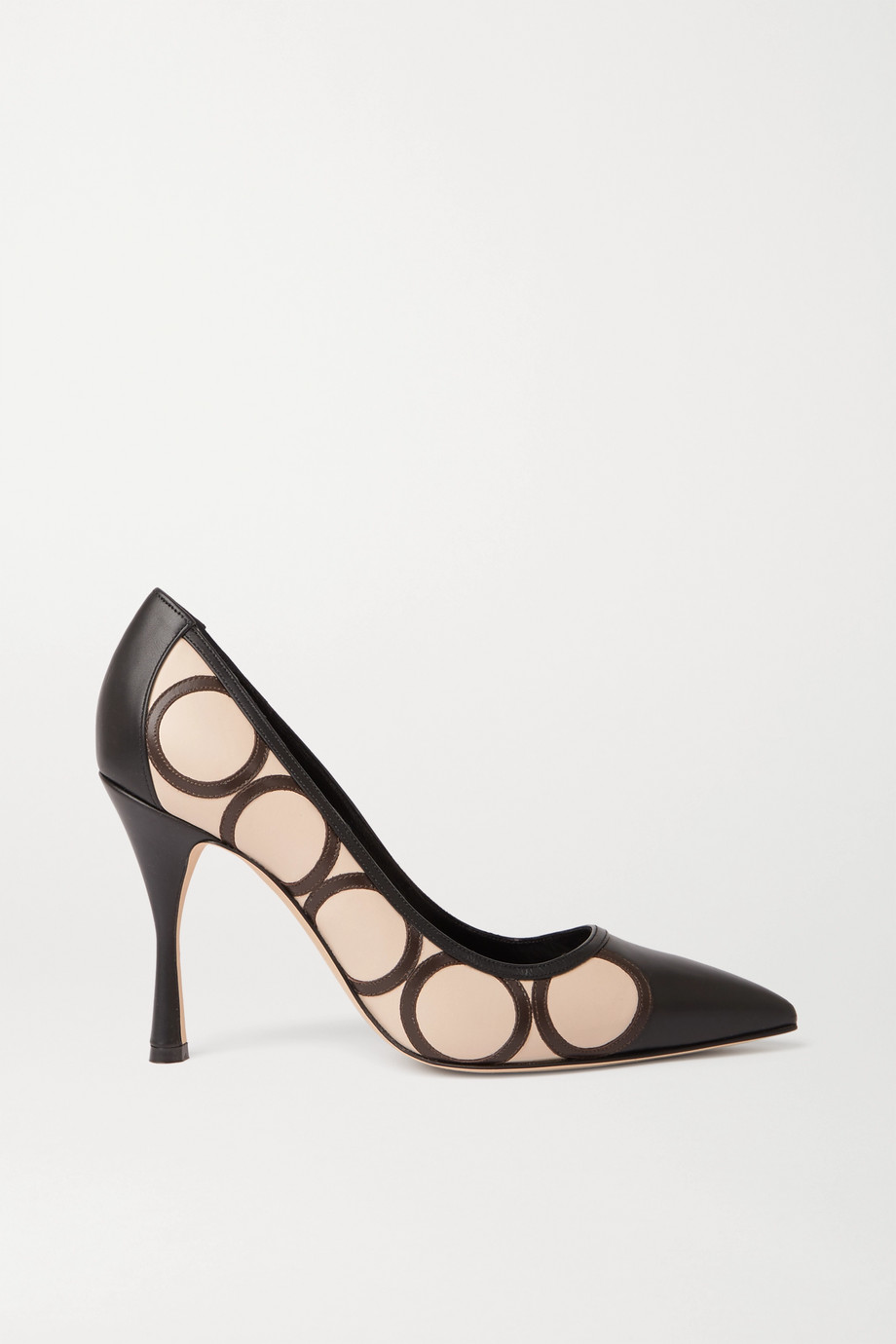 Manolo Blahnik Eustratios appliquéd leather pumps