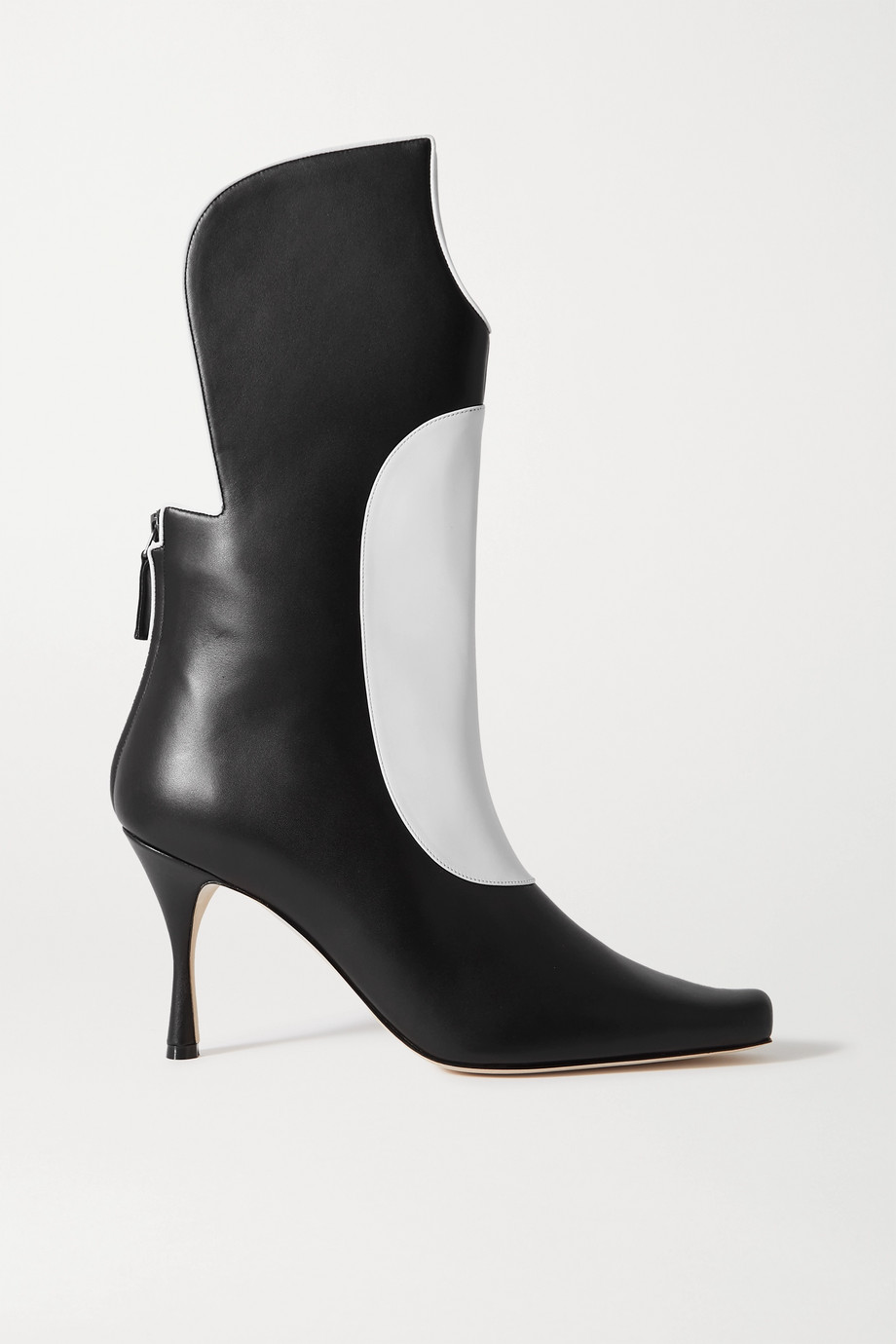 Manolo Blahnik Sambona two-tone leather boots