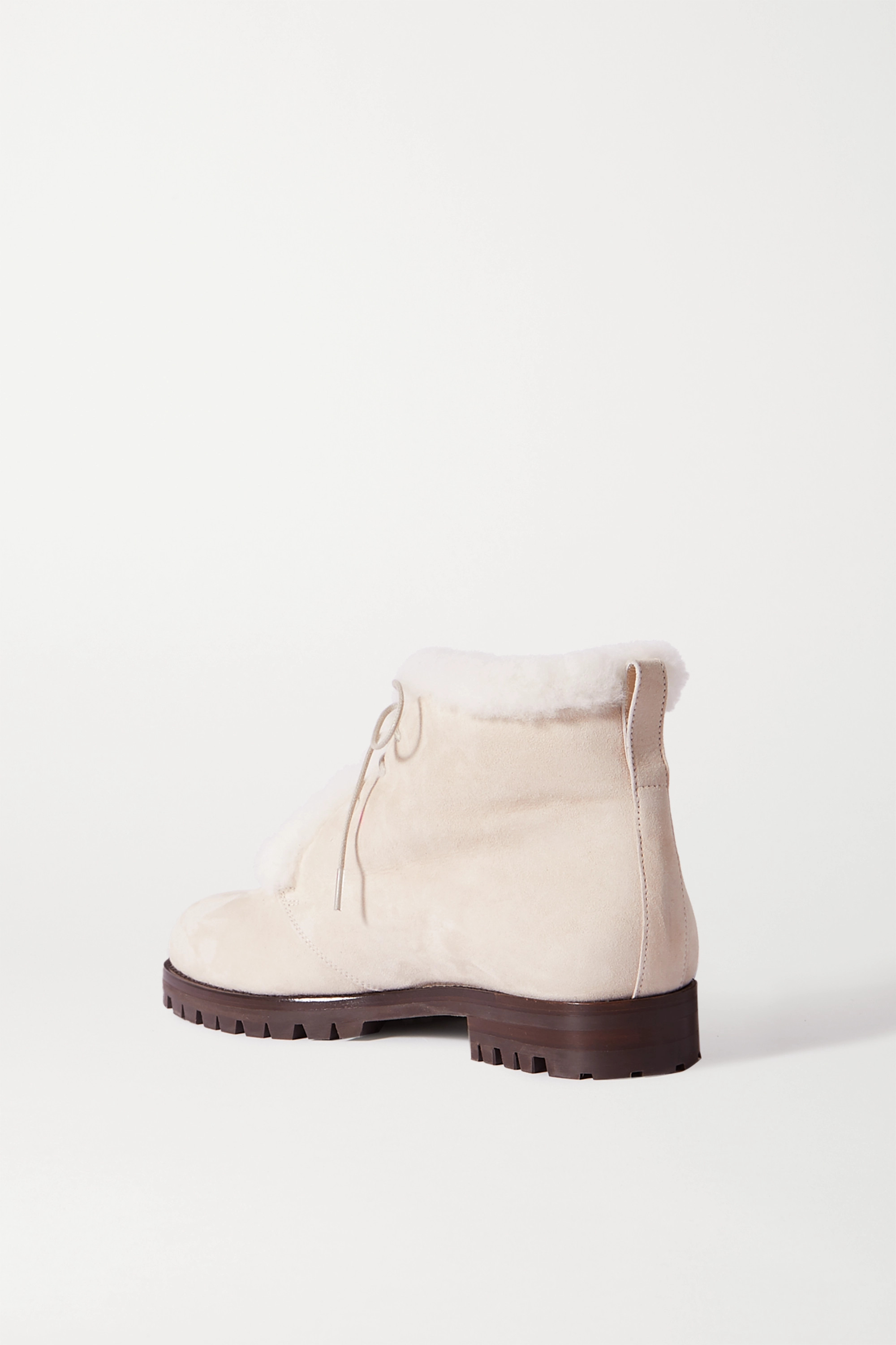 Manolo Blahnik Mircus shearling-lined suede ankle boots