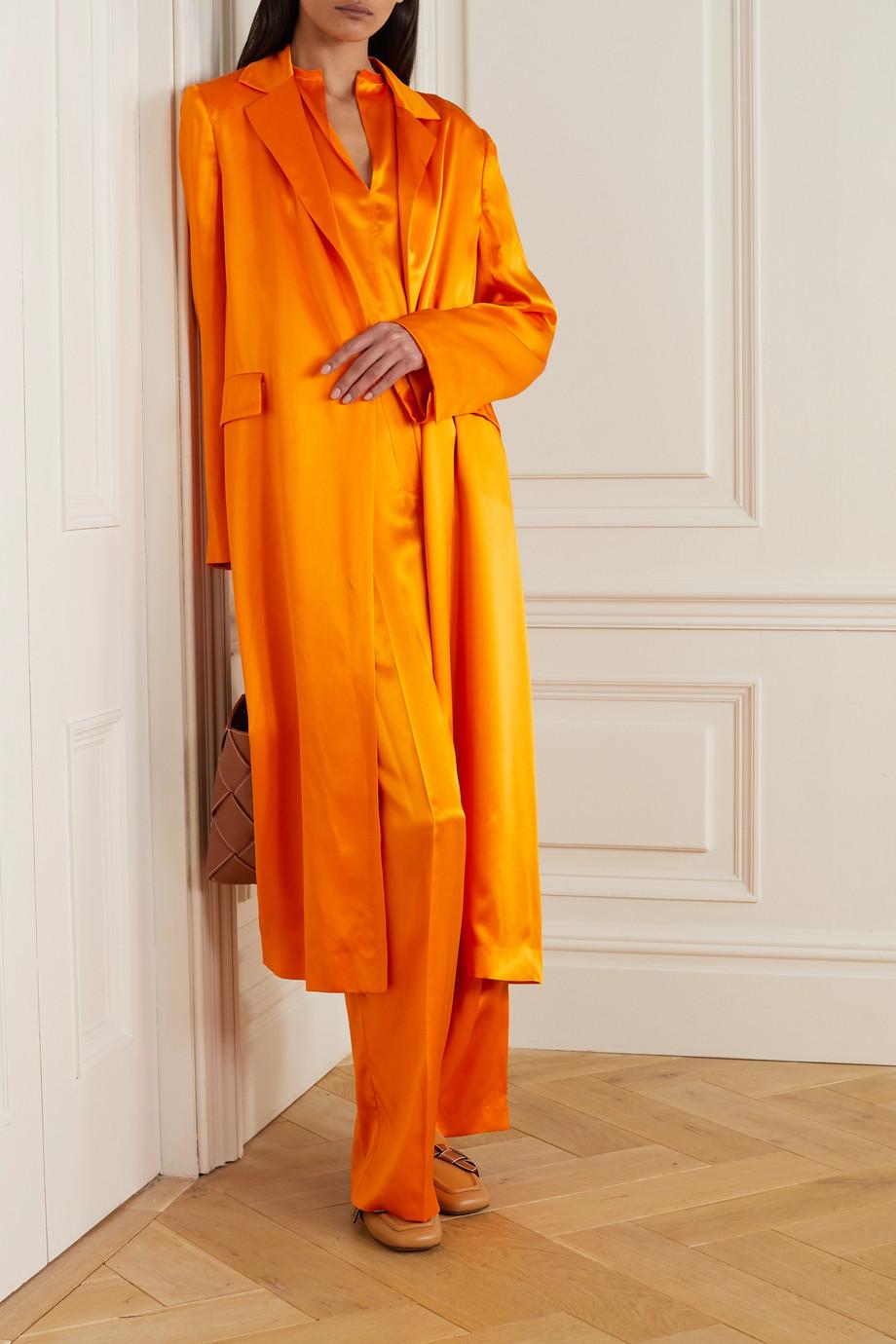 Nina Ricci Silk-satin coat