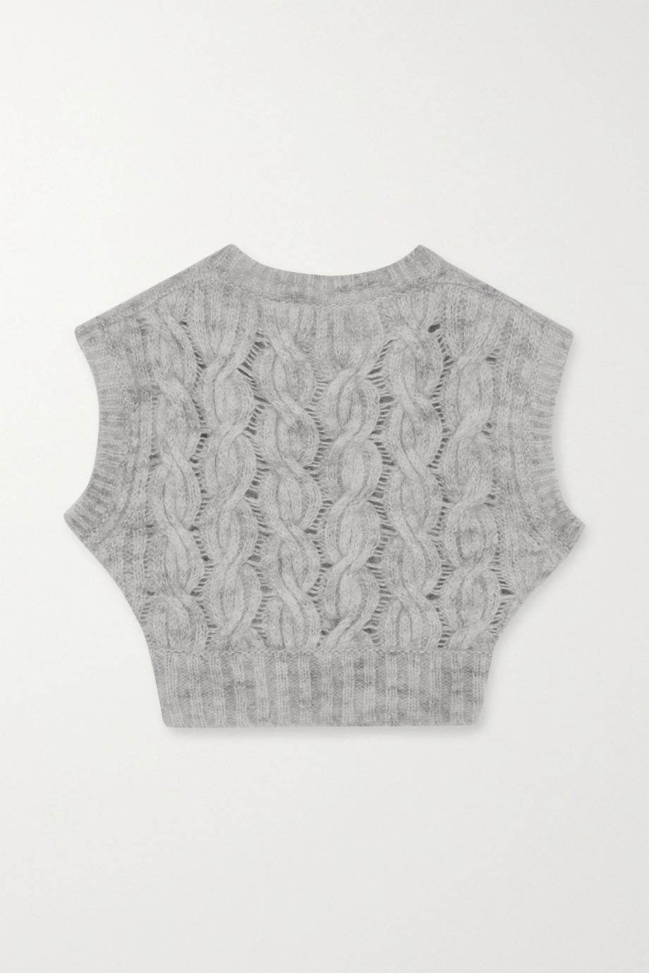 Nina Ricci Cropped cable-knit mohair-blend vest