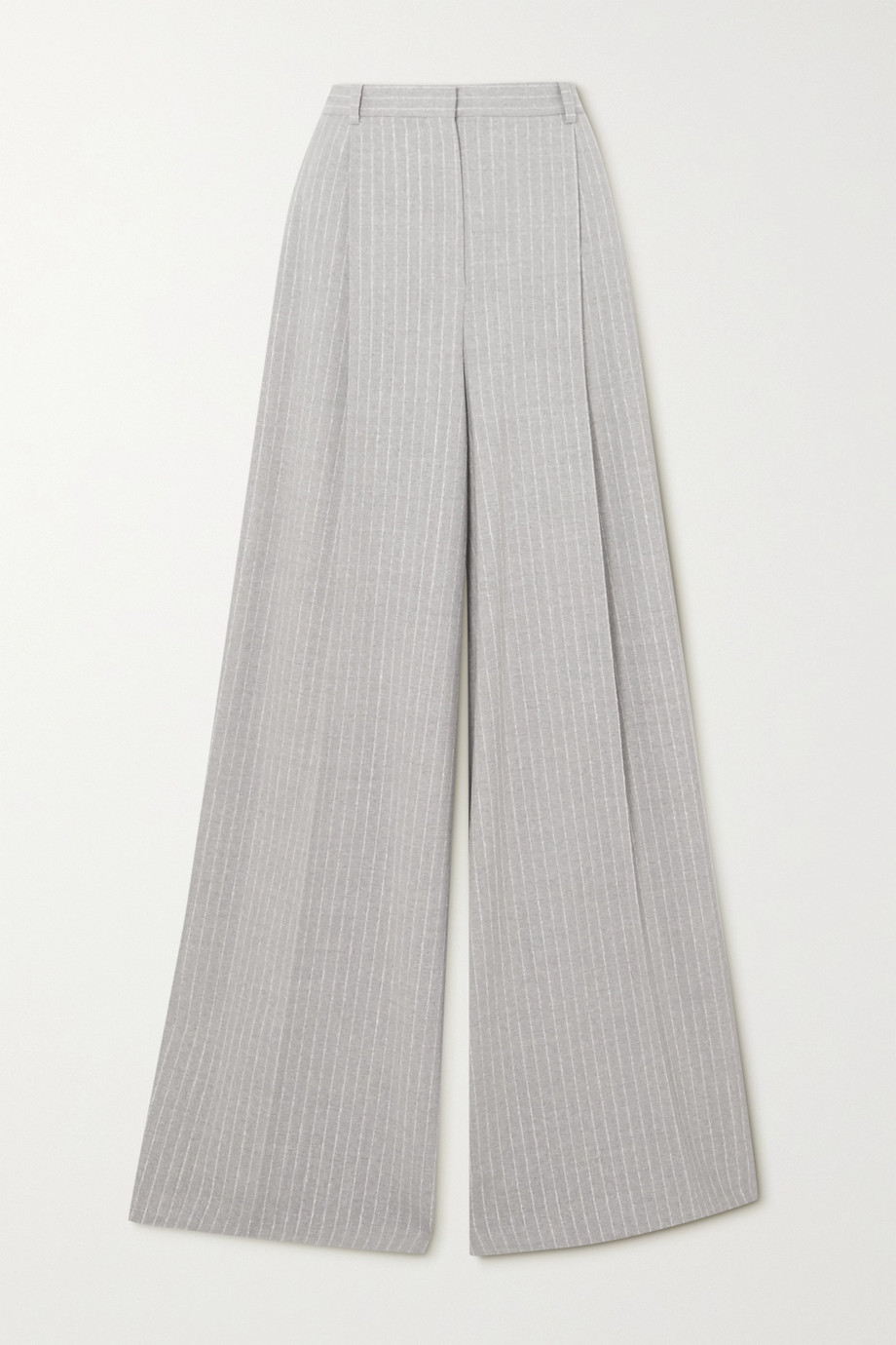 Nina Ricci Pantalon large en laine stretch à fines rayures