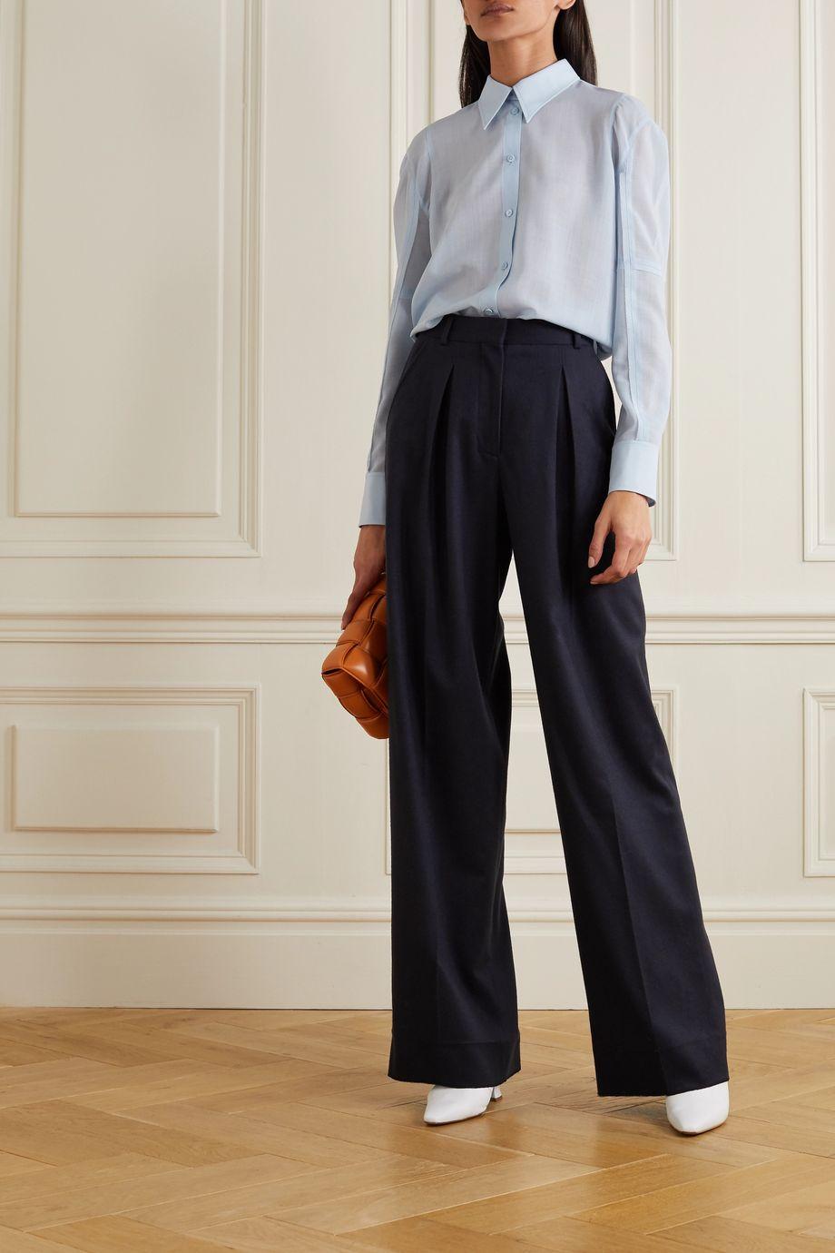 Nina Ricci Wool-blend voile shirt