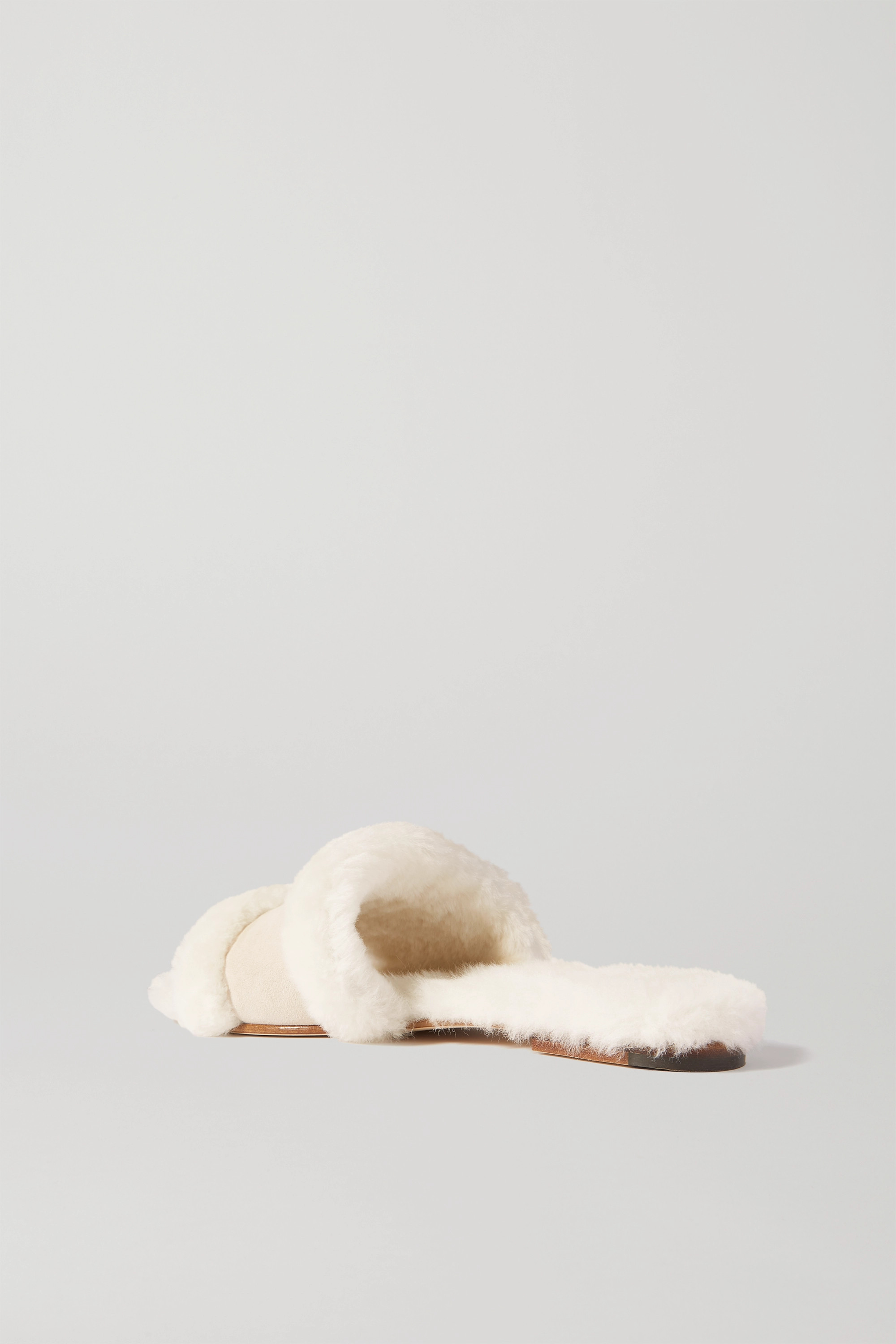 Manolo Blahnik Anacletus suede and shearling slides