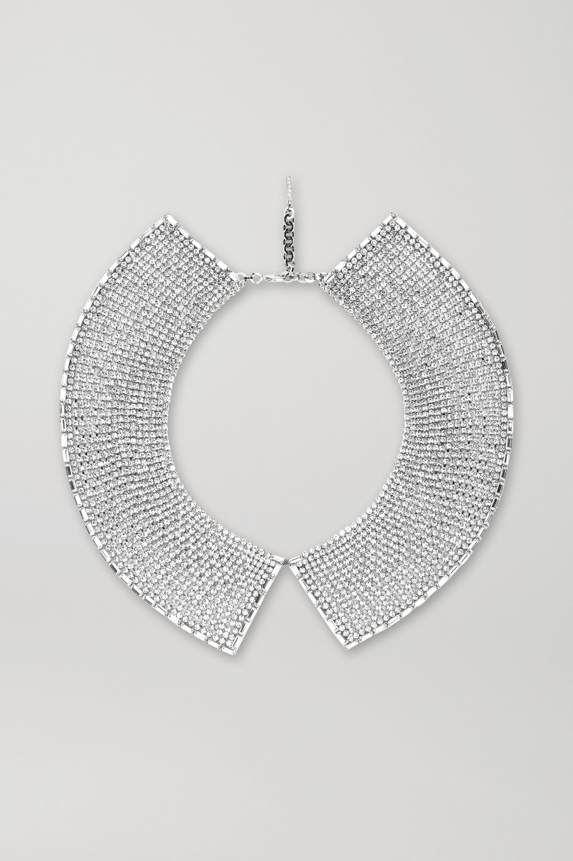 Alessandra Rich Rhodium-plated crystal necklace