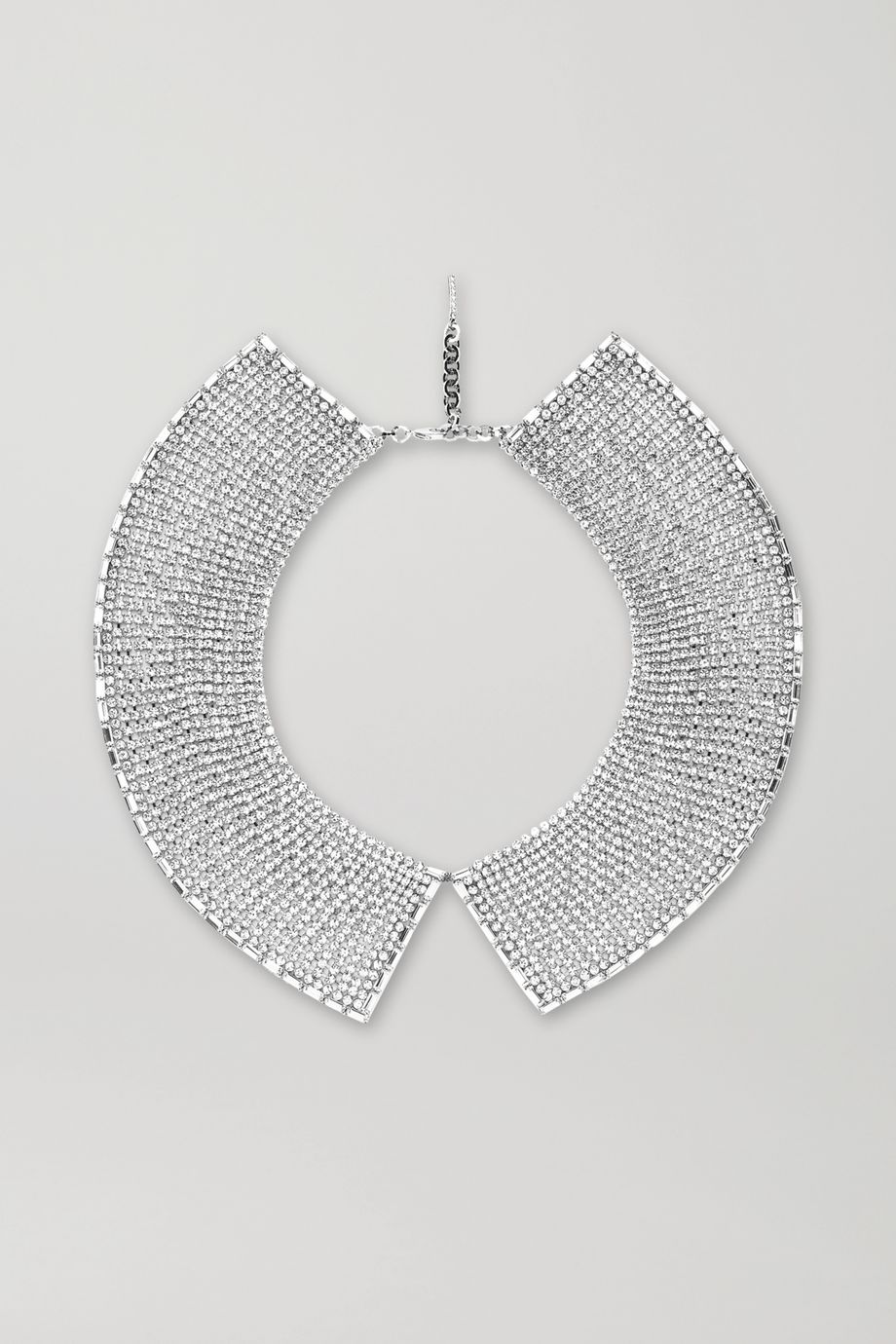 Alessandra Rich 水晶镀铑项链