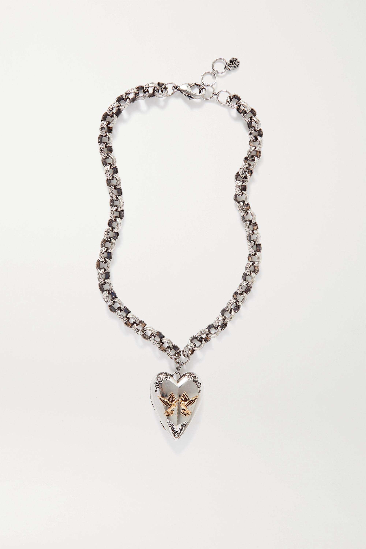 Alexander McQueen Silber- und goldfarbene Kette