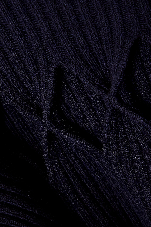 Victoria Beckham Cutout ribbed wool-blend turtleneck midi dress