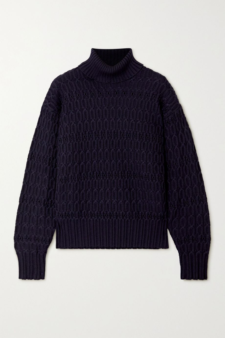 Victoria Beckham Cable-knit wool turtleneck sweater