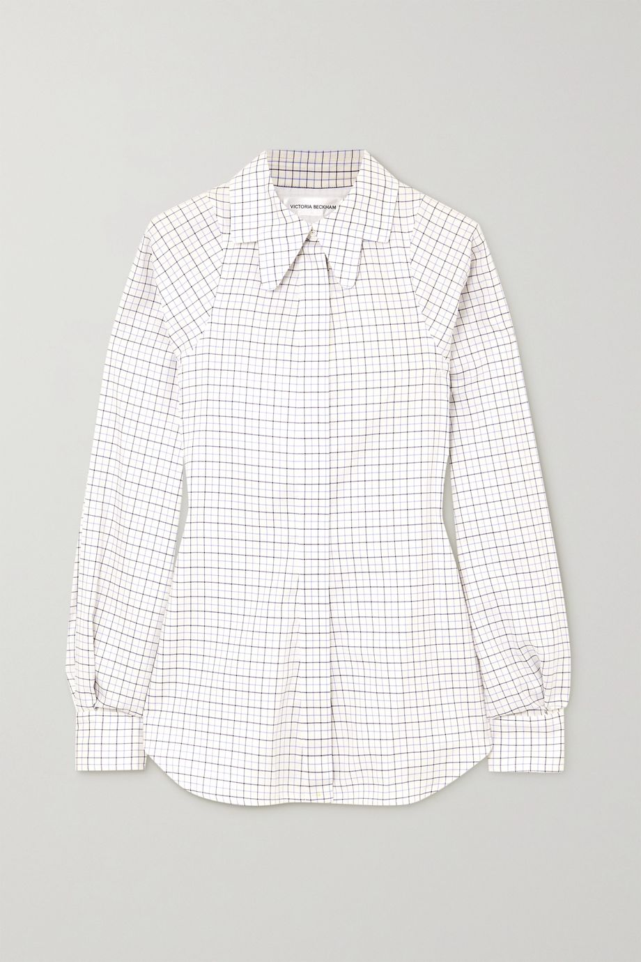 Victoria Beckham Checked cotton shirt