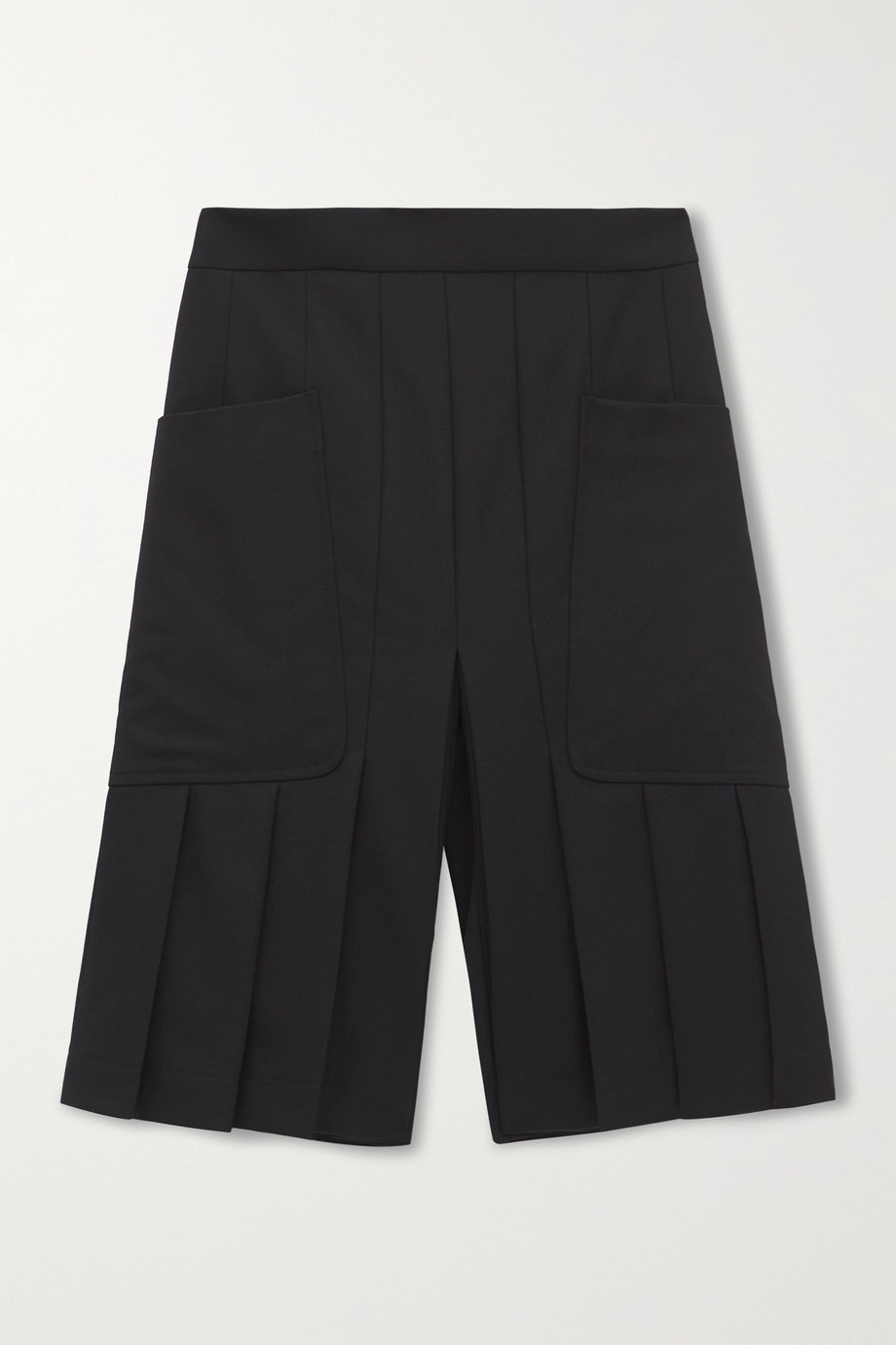 Victoria Beckham Pleated wool shorts