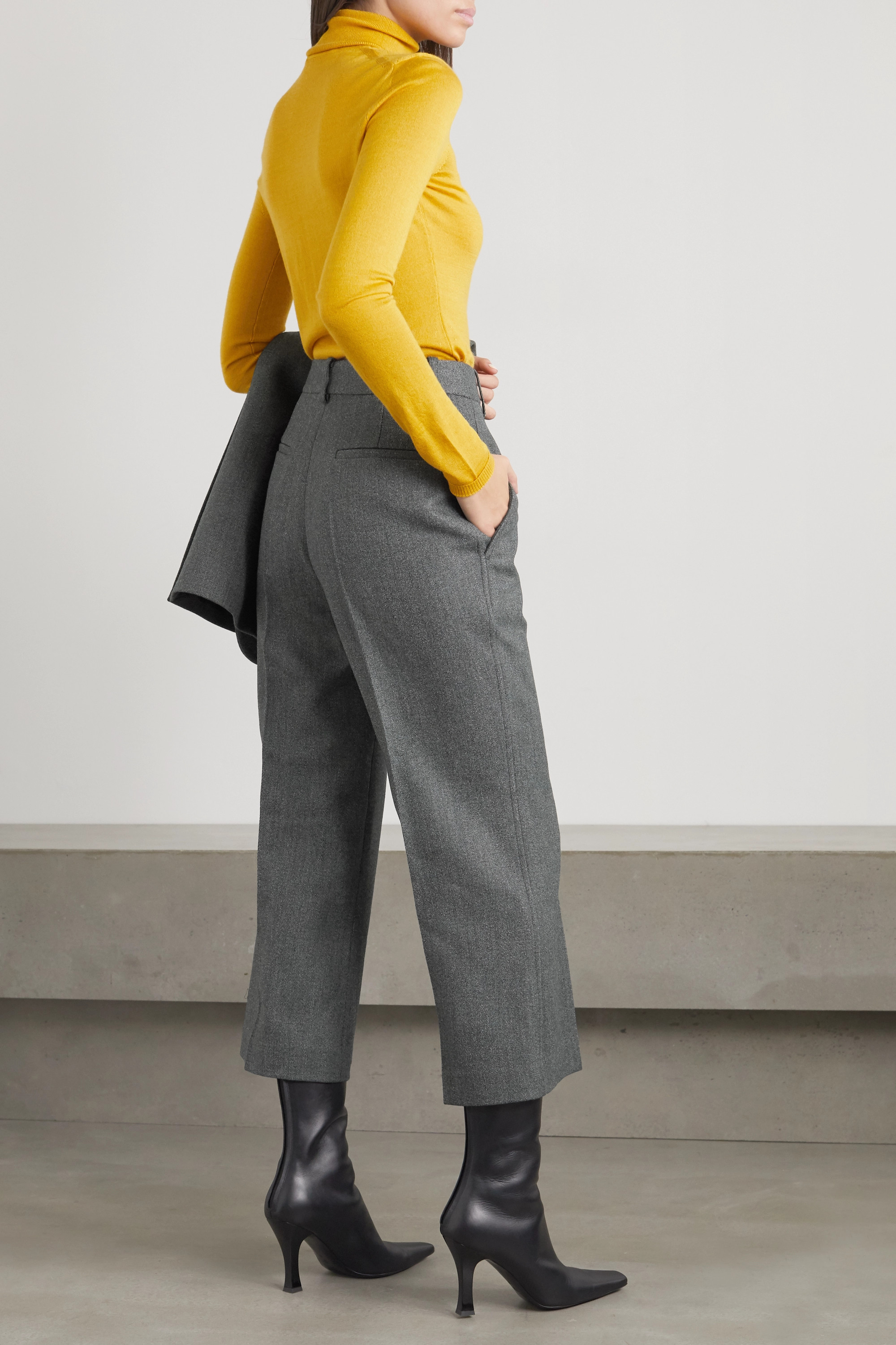 Victoria Beckham Cropped wool flared pants
