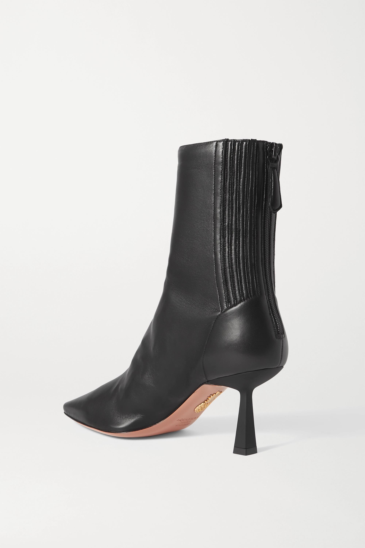 Aquazzura Curzon 75 leather ankle boots