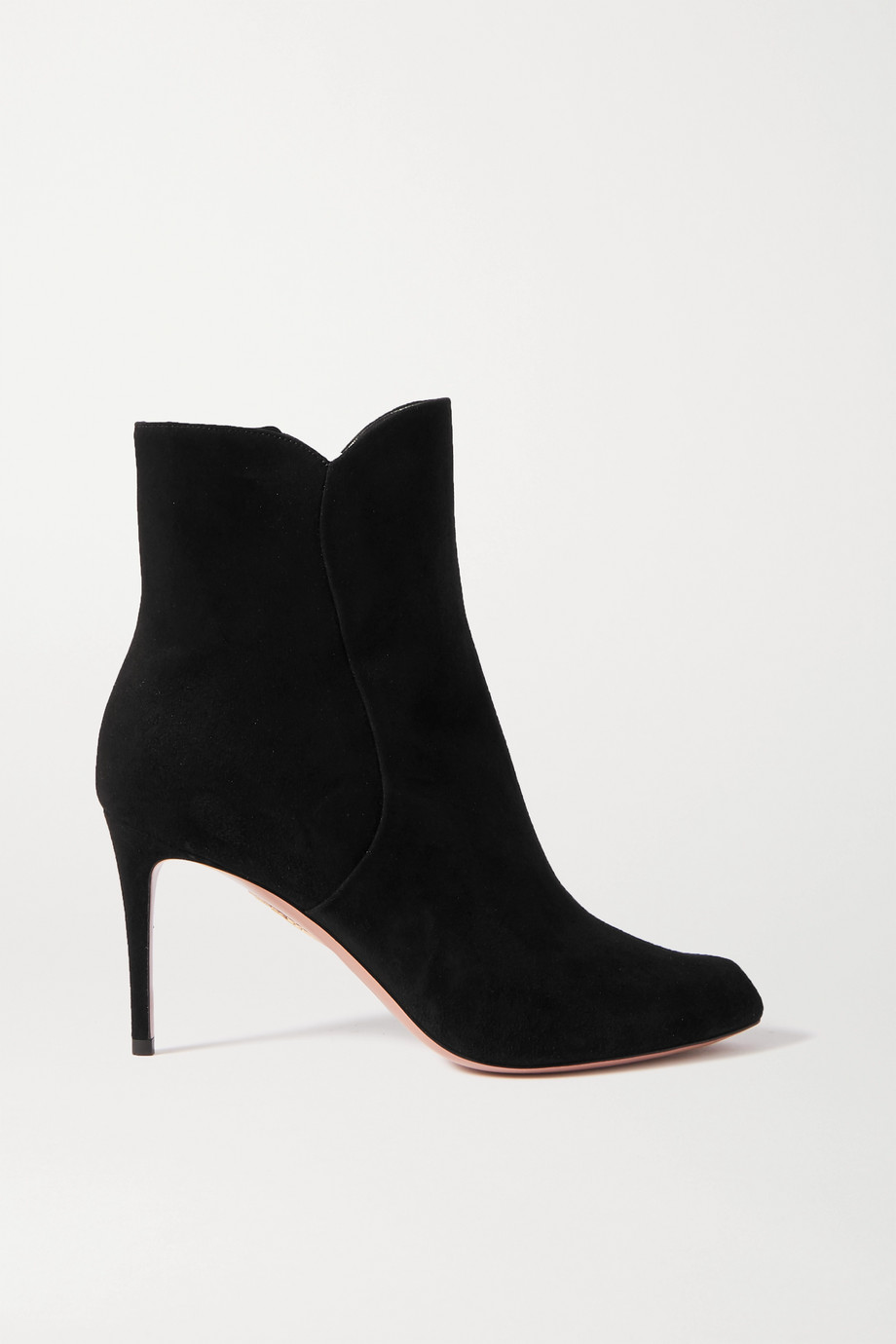 Aquazzura Roya 85 suede ankle boots