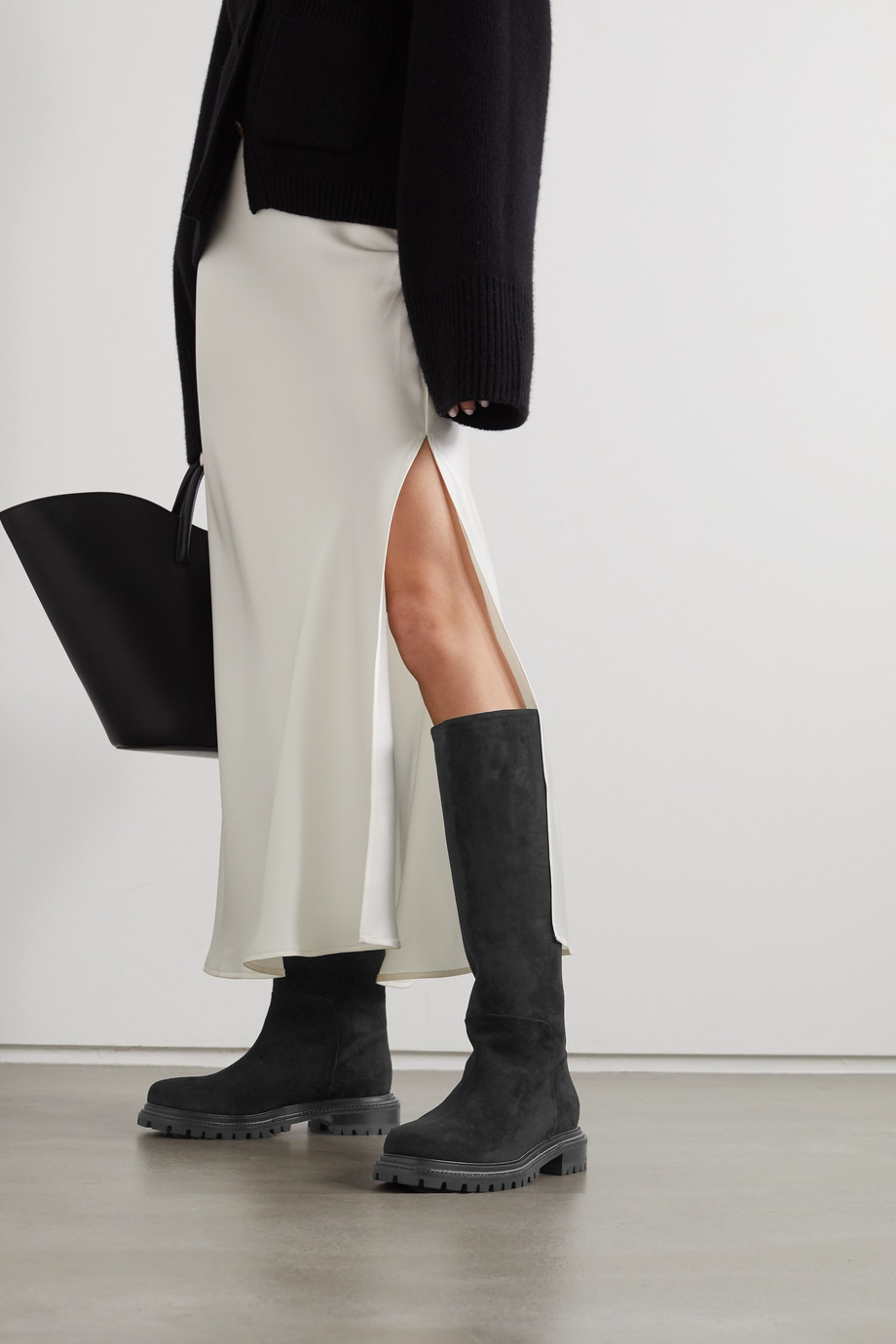 Aquazzura Sky 40 suede knee boots