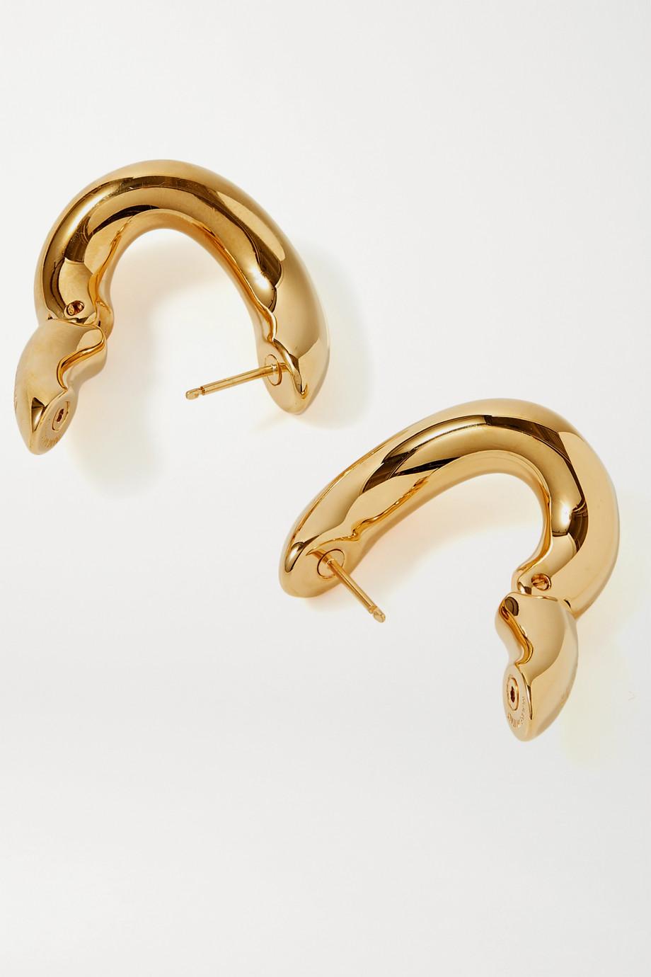 Balenciaga Loop goldfarbene Creolen